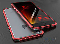 Чехол Luphie Blade Sword Bumper Apple iPhone 7 Red Silver (Dual color)