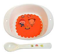 Набор детской посуды - тарелка и ложка