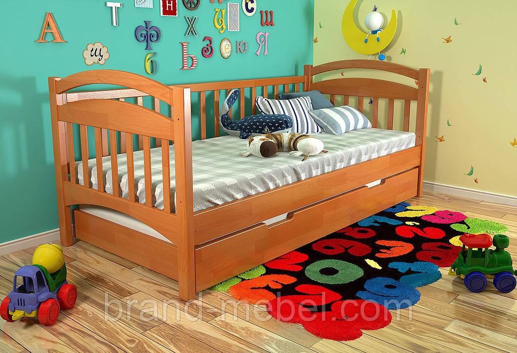Дитяче дерев'яне ліжко Аліса / Детская деревянная кровать Алиса