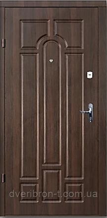 Входная дверь Форт Премиум Классик улица орех коньячный   960х2050