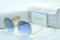 Женские  солнцезащитные очки Chloe Lux CE 124S голубые