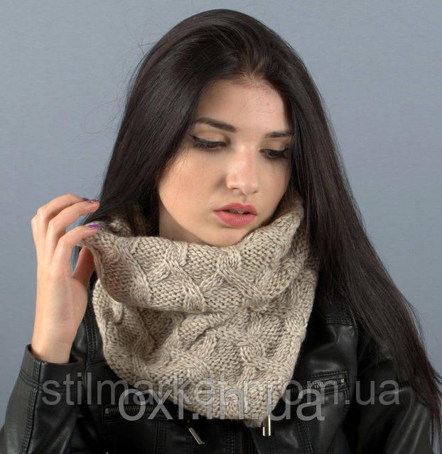 стильный вязаный шарф хомут продажа цена в киеве шарфы от