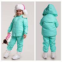Очень теплые крутые зимние костюмы на овчине на девочек и мальчиков