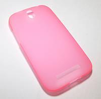 Чехол силиконовый бампер HTC C520e, C525e, T528t, One SV, One ST розовый