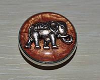 Сменная кнопка чанка  ручной работы со слоном
