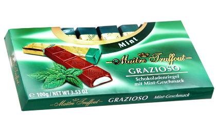 Шоколад Grazioso Mint (Грацио мятный) 100г. Австрия