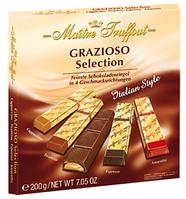 Шоколад Grazioso Maitre Truffout Grazioso (амаретто, эспрессо,тирамису, капучино) 200г. Австрия