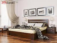 """Деревянная кровать с подъемным механизмом """"Селена"""" 1200х2000 (массив)"""