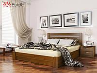 """Деревянная кровать с подъемным механизмом """"Селена"""" 1400х2000 (массив)"""