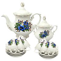 Набор чайный 14пр.Незабудка (чашка-200мл;чайник-700мл; сахарн.-500мл;блюдце-14.5см)