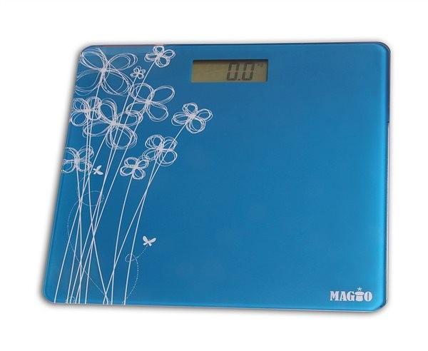 Весы напольные бытовые Magio mg 297 голубые