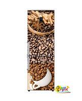 Виниловая наклейка на холодильник кофейное ассорти