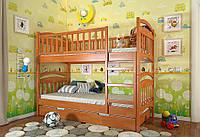 Детская деревянная кровать Смайл