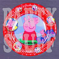 Тарелки картонные одноразовые Свинка Пеппа 18 см, 10 шт