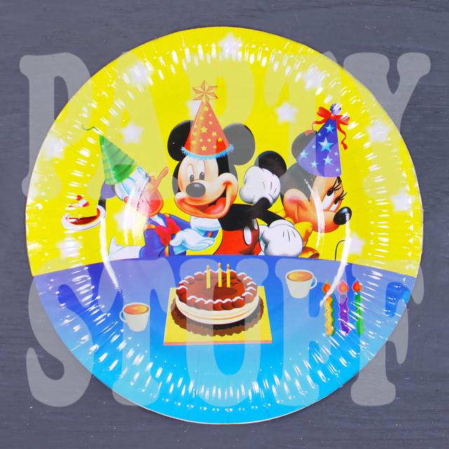 тарелка детская день рождения дисней