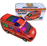 Машина на батарейках 89-3689В/2689В пожежна 24,5*9*19,5см