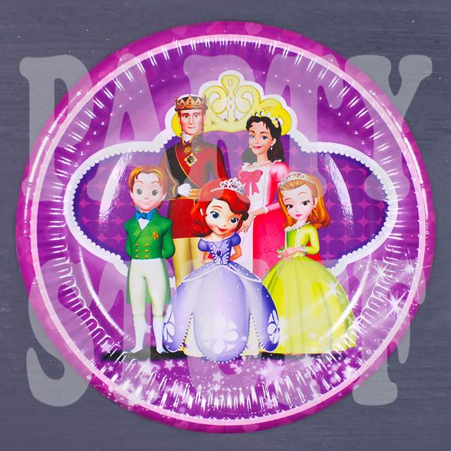 картонные тарелки принцесса София