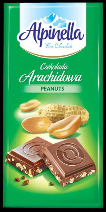 Шоколад Alpinella 90g арахис