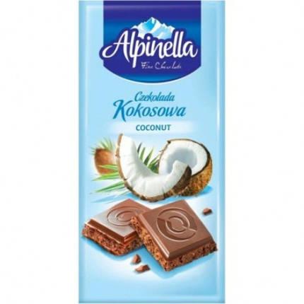Шоколад Alpinella 90g кокос, фото 2