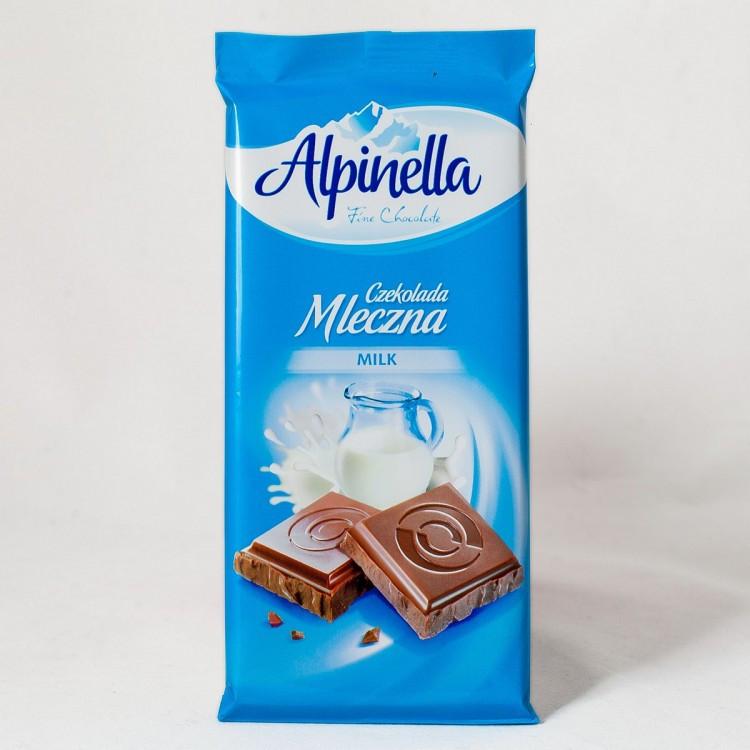 Шоколад Alpinella 90g молочный