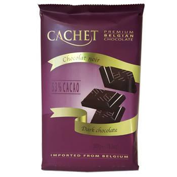 Шоколад Cachet 300г чёрный 53%, фото 2