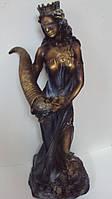 Статуэтка Фортуна с рогом изобилия высота 73 см