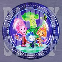 Одноразовые тарелки Фиксики 18 см, 10 шт