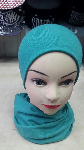 Женский набор шапка + шарф, цвет мята