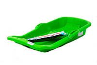 Санки с тормозом (красный, синий, зеленый, желтый, розовый)