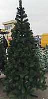 Елка искусственная европейская 250 (см), стройная веселая, иголки леска ПВХ Италия, трубчатый пушистый ствол