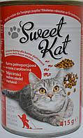 Еда для взрослых кошек с мясом говядины Sveet Kat 0.415 г.