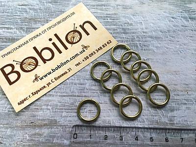 Кольцо соединительное light gold, диаметр 13 мм