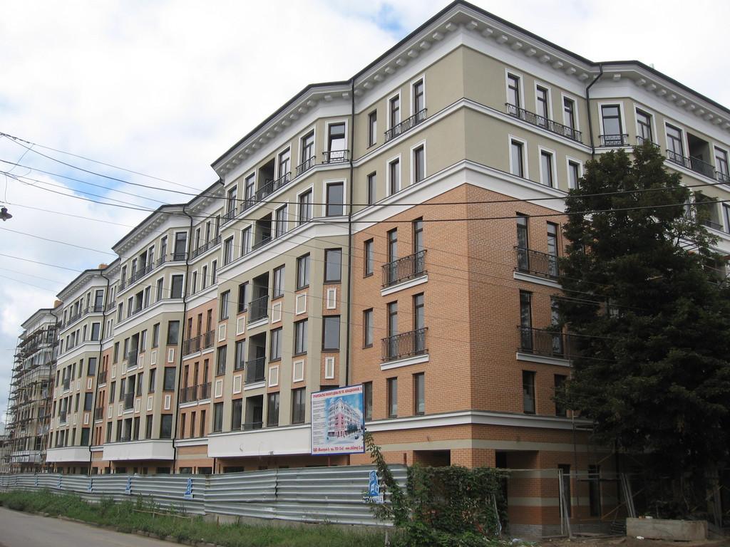 """Фасадные работы, отделка фасада жилого комплекса """"На Бакулина"""""""