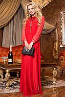 Классическое красное вечернее платье 1980  Seventeen  42-48  размеры