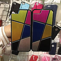 Яркий Цветной Пластиковый Чехол для iPhone 5/5s/SE Витраж, Мозаика, Абстракция, Коллаж