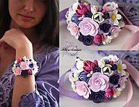 """Авторский браслет с цветами """"Цветочный рай"""", фото 1"""