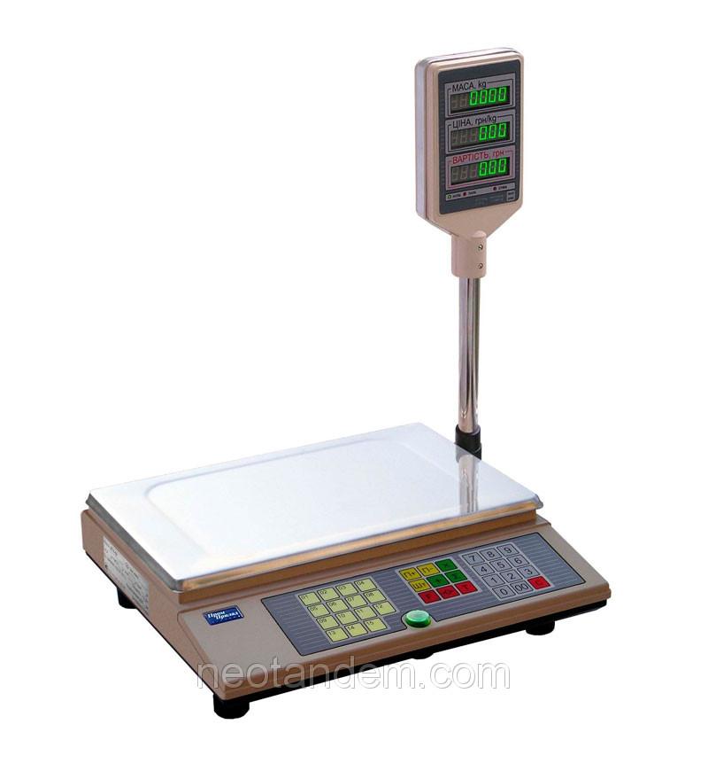 Весы торговые ВТА-60/15-5D, электронные, с поверкой