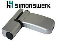 """Петля Simonswerk Siku 4045 (80 кг.), размер 15-19, """"серебро""""., фото 1"""