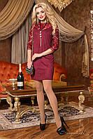 Нарядное женское бордовое платье 1984   Seventeen  44-50  размеры