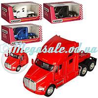 Машинка железная инерционная грузовик Kinsmart, 4 цвета: 12см, открываются двери