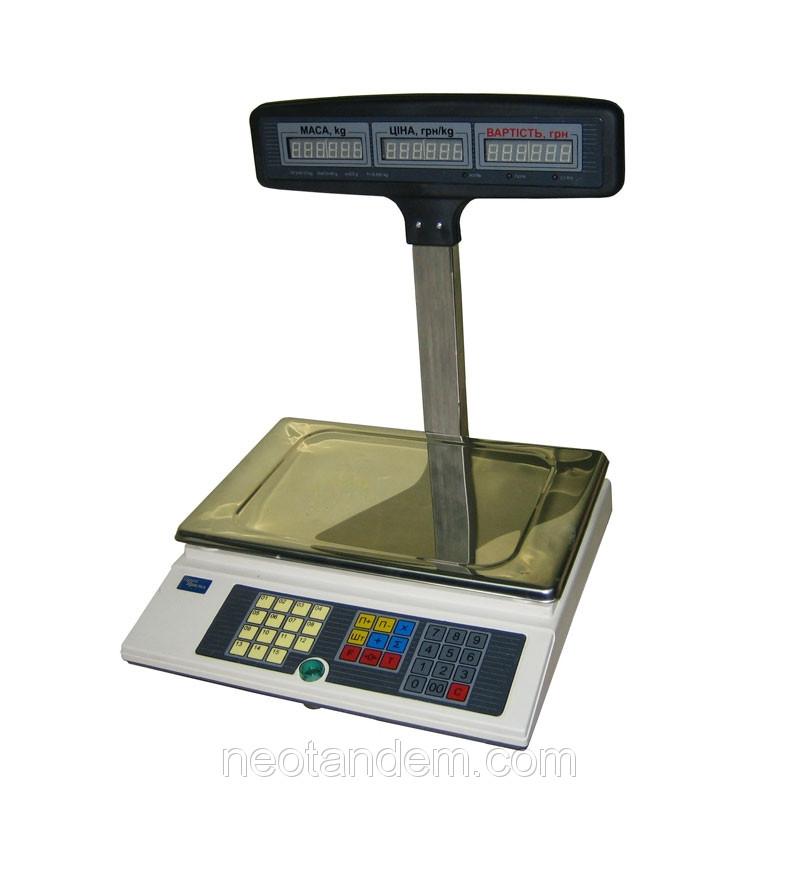Весы электронные торговые ВТА-60/15-5-Т