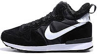 Кроссовки Nike Internationalist Mid Winter Black/White (Мех)