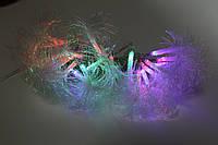 Гирлянда кисточки распушеные 60 светодиодов мульти цвет