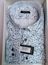 Чоловіча сорочка приталені велика DERGI довгий рукав код 7157-1