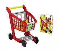 Тележка для супермаркета Ecoiffier с аксессуарами (001225)
