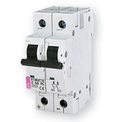 Автоматичний вимикач DC ETI ETIMAT 10 DC 2p C 50A (2138721)