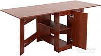Стол книжка яблоня для столовой, для кухни с полочками