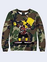 Світшот чоловічий Барт мілітарі, фото 1