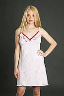Сорочка белая в горошек