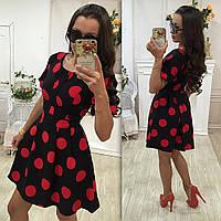 Стильное женское платье в горошек № 507 (2 цвета)